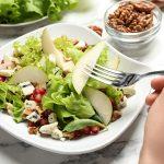 Salada com preâ rocha